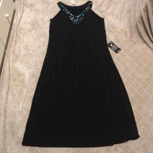 f3456f1f34d Plus size Avenue black dress 22 24 beaded stretchy